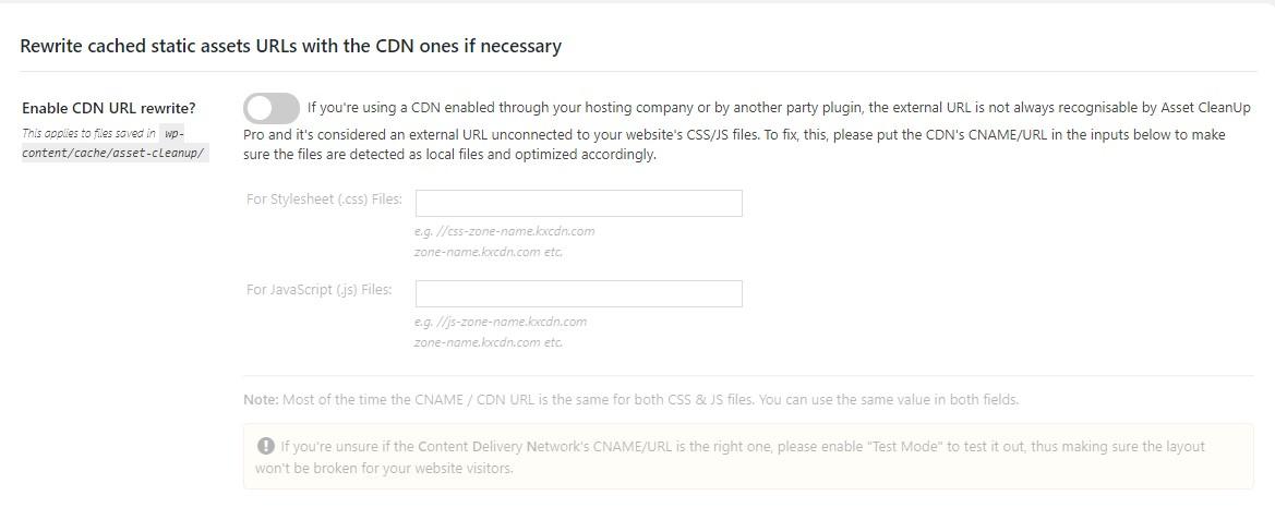 Asset CleanUP Pro CDN configuration Myhostingfacts