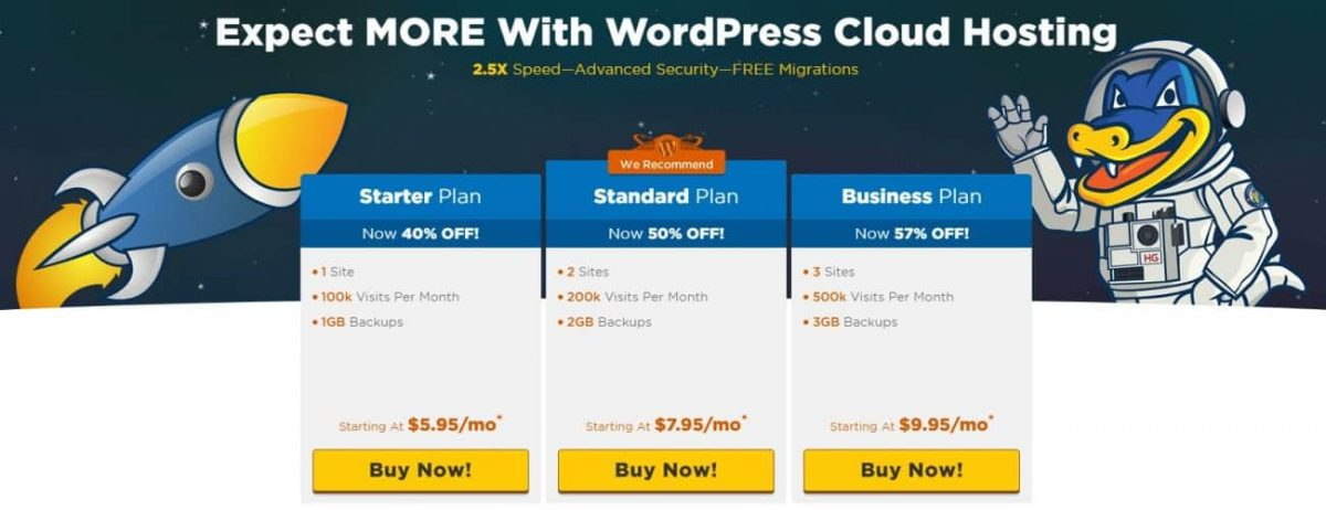 HostGator WordPress Cloud Hosting