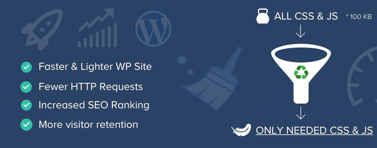Remove unused css and javascript with Asset CleanUp Pro WordPress speed optimisation plugin