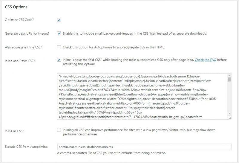 above the fold autoptimize fixed WordPress optimization myhostingfacts.com