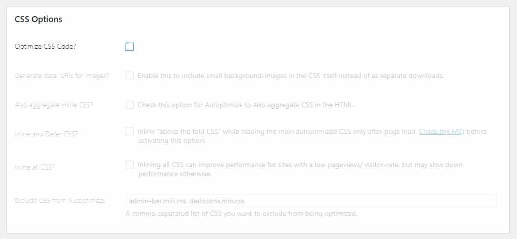 autoptimize above the fold CSS WordPress optimization myhostingfacts.com