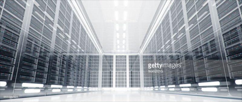 web hosting server illustration