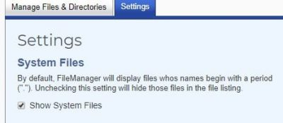 show system files (ungide) .htaccess for leverage browser caching